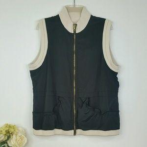 Zenergy Chicos Reversible Sweater Vest Black 2 Lrg